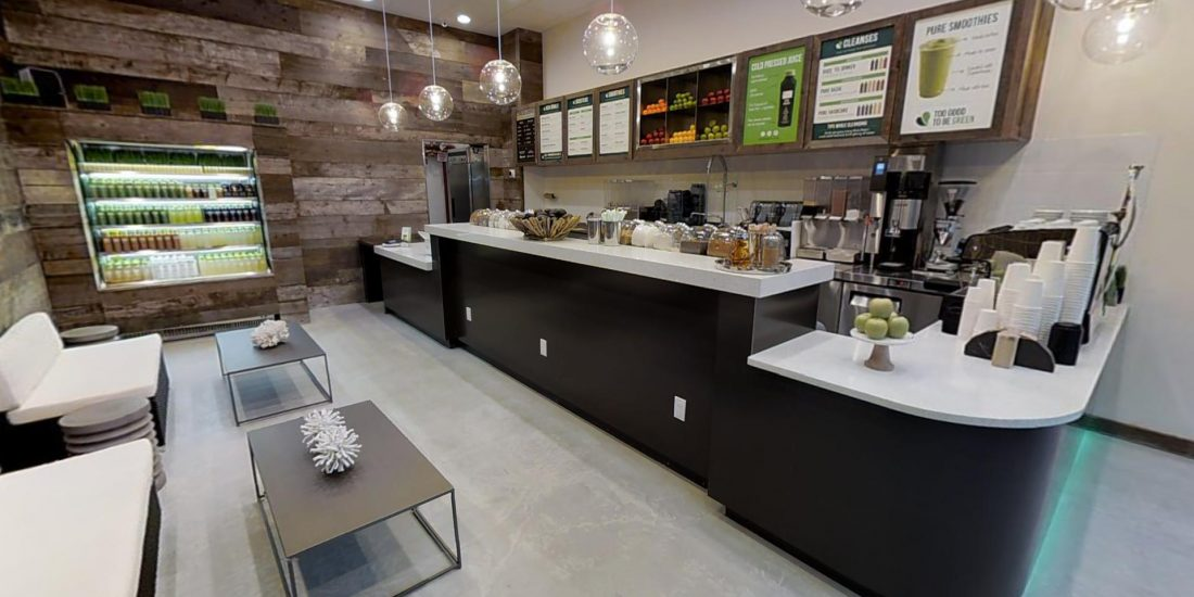 Visita Virtuale Juice and Smoothies Store - Pure Green - Healthy Lifestyle